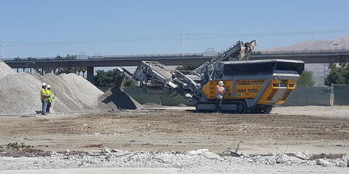 Concrete crushing