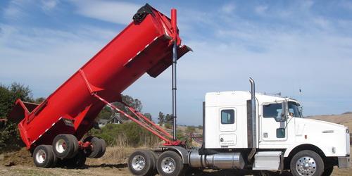 End dump hauling